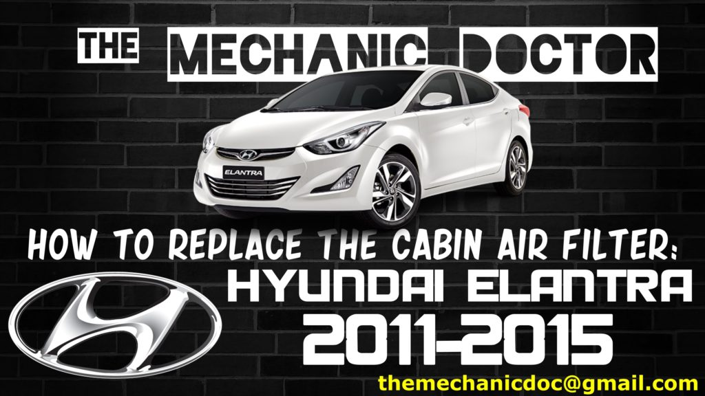 how to replace the cabin air filter hyundai elantra 2011 2012 2013 2014 2015. Black Bedroom Furniture Sets. Home Design Ideas