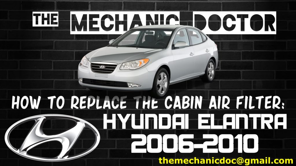 How To Replace The Cabin Air Filter Hyundai Elantra 2006 2007 Rhthemechanicdoctor: Hyundai Elantra Cabin Air Filter Location At Gmaili.net