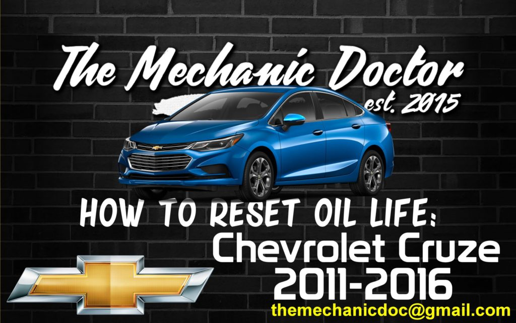 how to reset oil life chevrolet cruze 2011 2012 2013 2014 2015 2016. Black Bedroom Furniture Sets. Home Design Ideas
