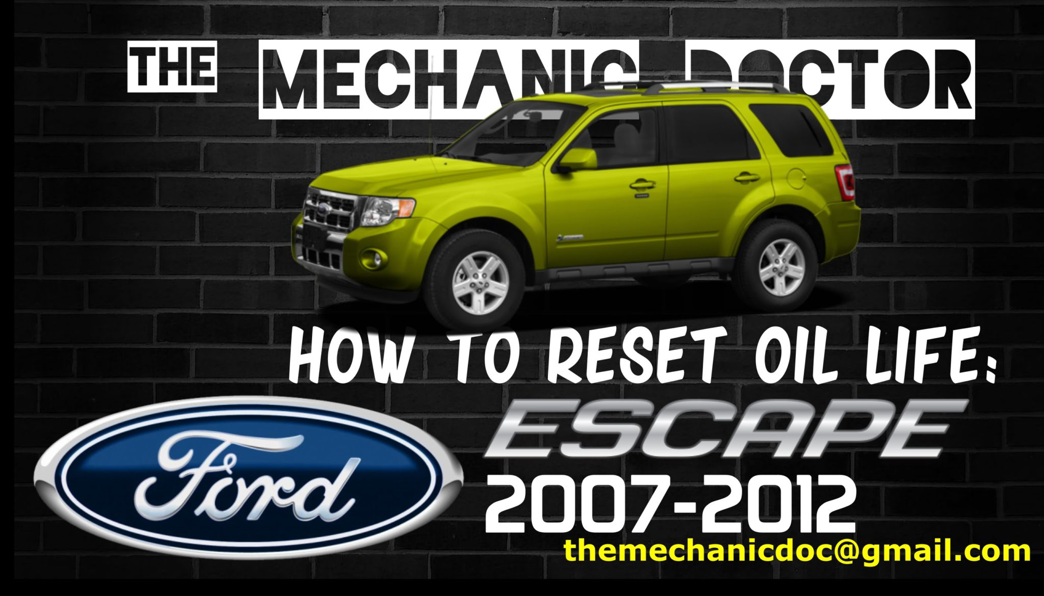 How to reset oil life: Ford Escape 2007, 2008, 2009, 2010, 2011, 2012.