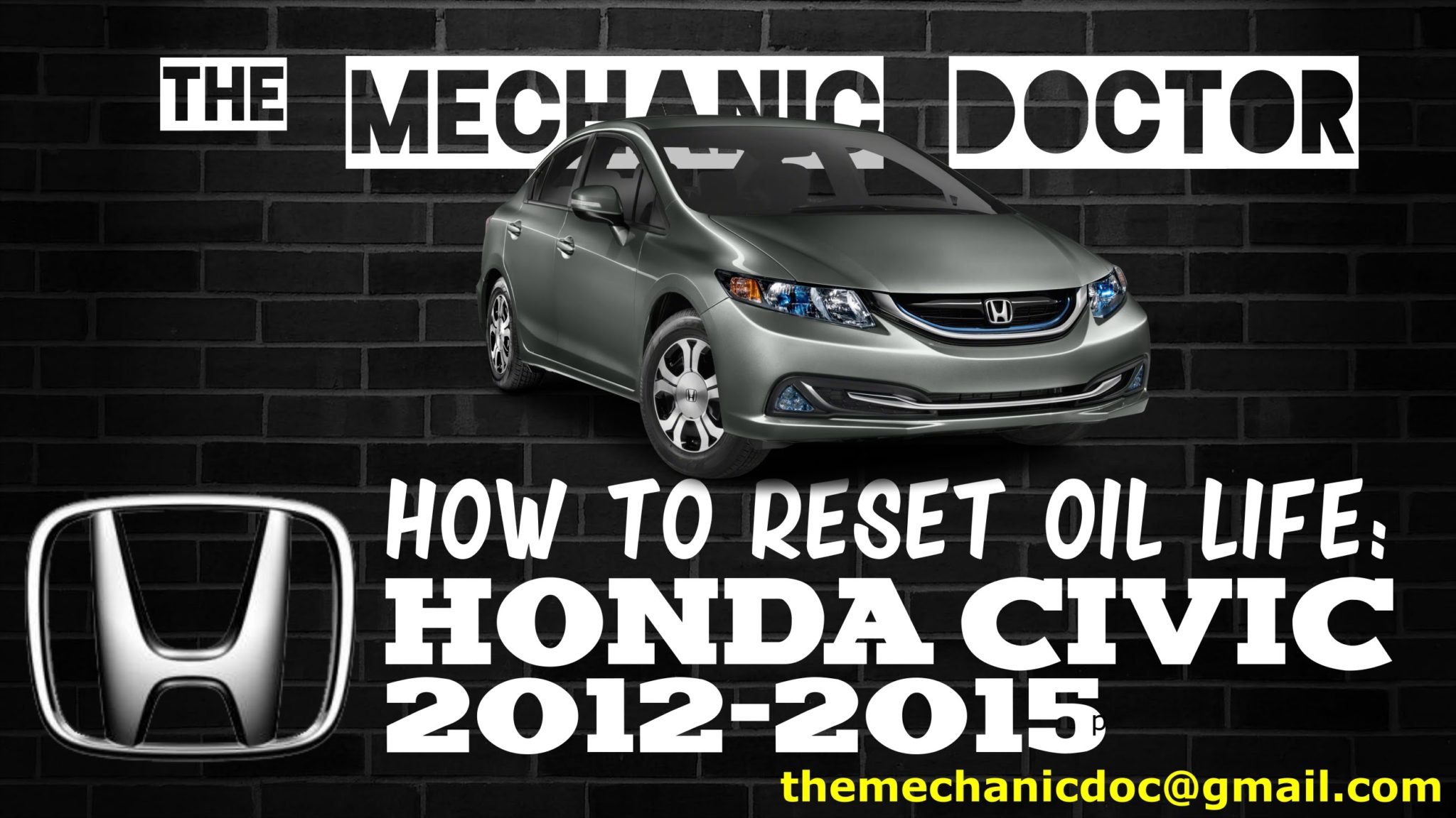 how to reset oil life honda civic 2012 2013 2014 2015