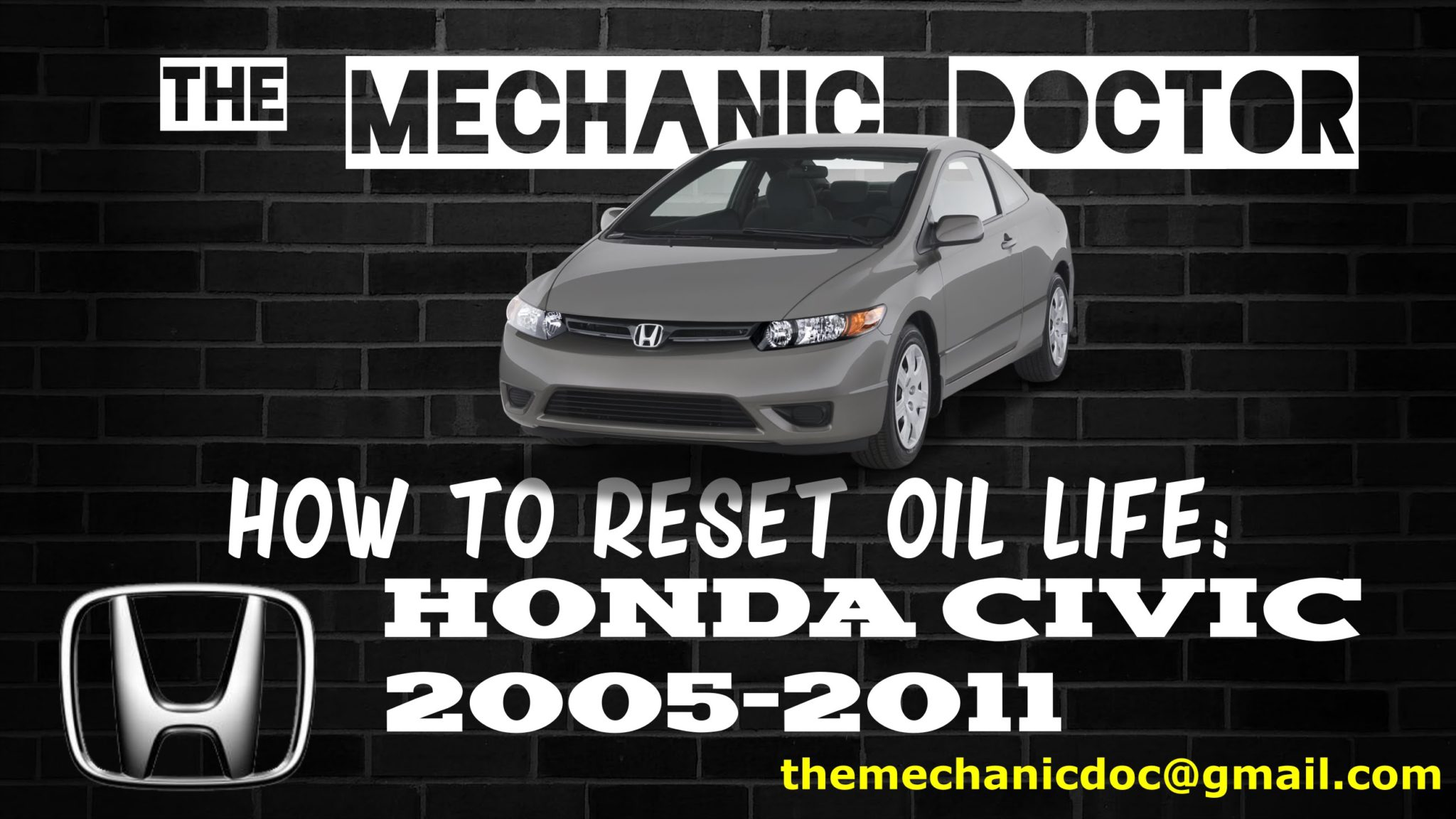 How To Reset Oil Life Honda Civic 2005 2006 2007 2008 2009 2010 2017