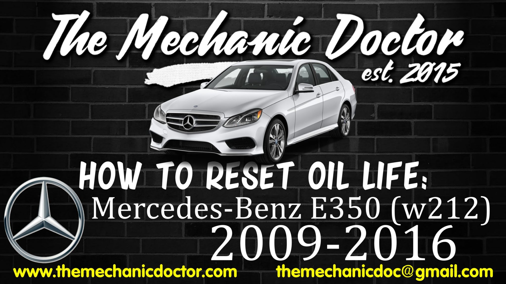 How to reset oil life mercedes benz e350 w212 2009 for Mercedes benz mechanic