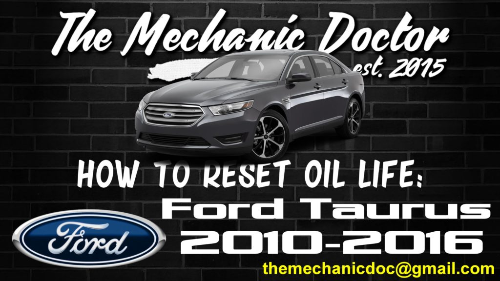 How To Reset Oil Life  Ford Taurus 2010  2011  2012  2013  2014  2015  2016