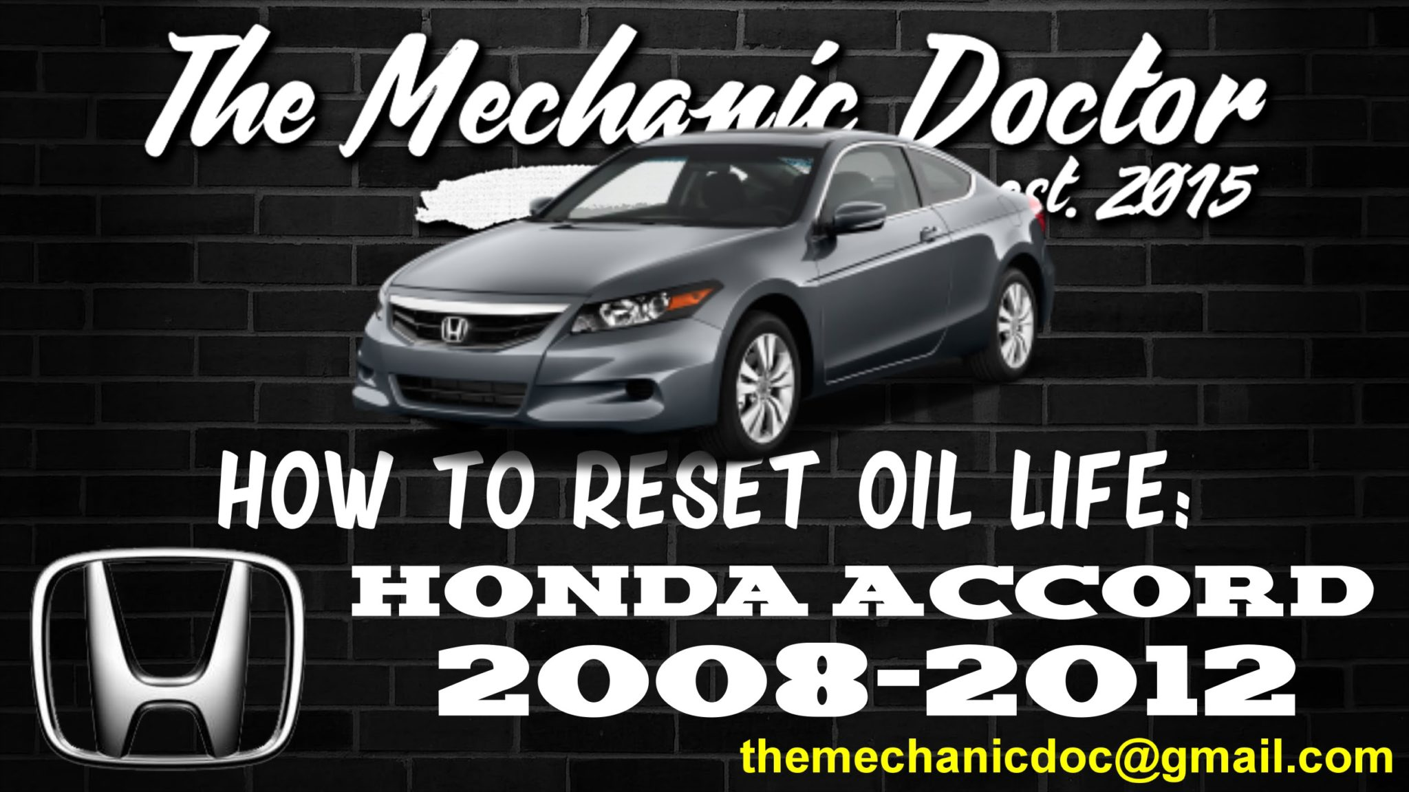 How to reset oil life: Honda Accord 2008, 2009, 2010, 2011