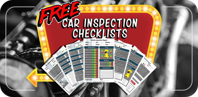 photograph about Free Printable Vehicle Inspection Form called 6 Totally free Car or truck Inspection Kinds - Innovative Seeking Checklists